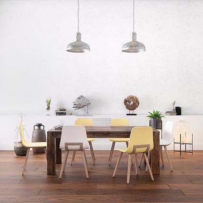Denmark「Nordic style office with large team desk」:スマホ壁紙(6)