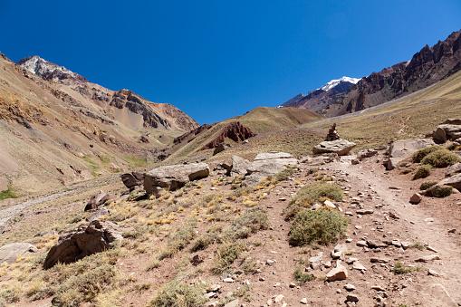 アコンカグア山「Aconcagua peak from around base camp」:スマホ壁紙(3)
