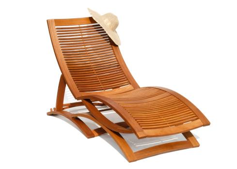Lounge Chair「Wooden sunbead on white background」:スマホ壁紙(9)