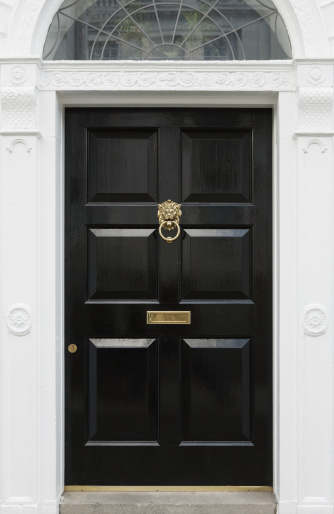 Front Door「Black door, beautiful entryway in Dublin, Ireland」:スマホ壁紙(19)