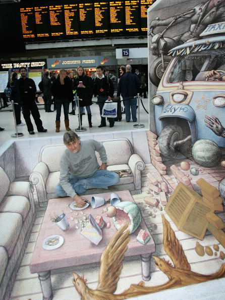 Chalk - Art Equipment「3D Street Artist Kurt Wenner - Photocall」:写真・画像(7)[壁紙.com]