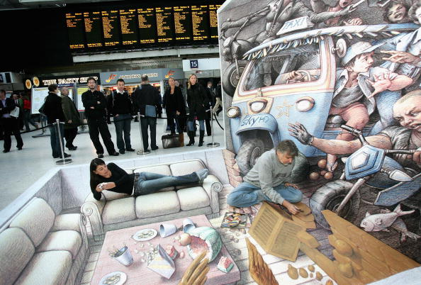 Chalk - Art Equipment「3D Street Artist Kurt Wenner - Photocall」:写真・画像(1)[壁紙.com]