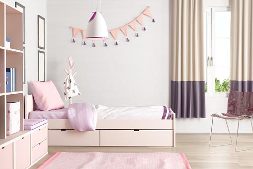 Cute「Pink Colored Teen Bedroom」:スマホ壁紙(4)