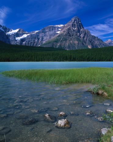 ケフレン山「Mount Chephren from eastern shore of Upper Waterfowl Lake.」:スマホ壁紙(6)