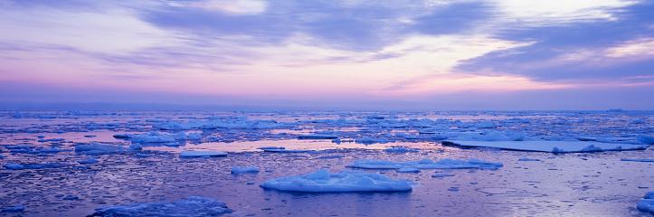 Hokkaido「Drift ice in Notsuke peninsula, Hokkaido, Japan」:スマホ壁紙(16)