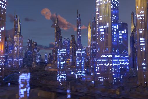 Internet of Things「Future city」:スマホ壁紙(0)