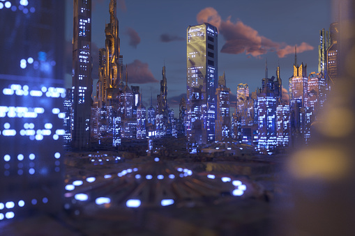 Computer Cable「Future city」:スマホ壁紙(14)