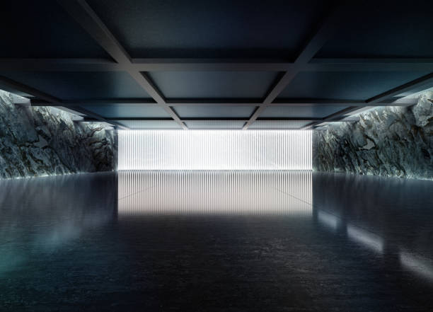 Empty dark abstract concrete room smooth interior.:スマホ壁紙(壁紙.com)
