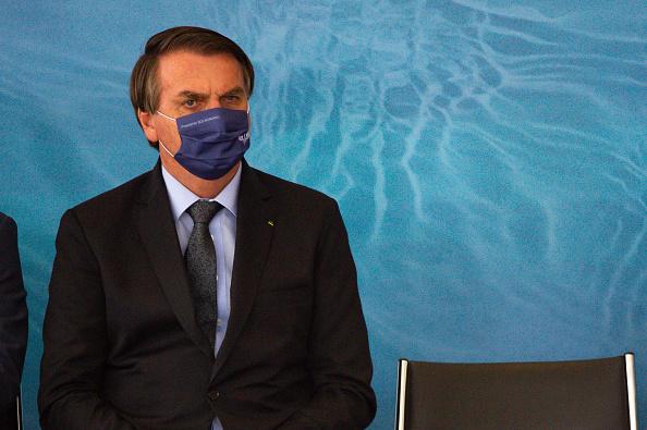 President of Brazil「Bolsonaro Participates in the Launch of Programa das Aguas Amidst the Coronavirus (COVID - 19) Pandemic」:写真・画像(10)[壁紙.com]