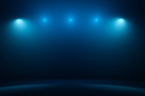 Illuminated「Empty stage with spotlights」:スマホ壁紙(3)