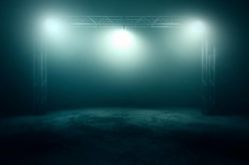 Music「Empty stage with spotlights」:スマホ壁紙(7)
