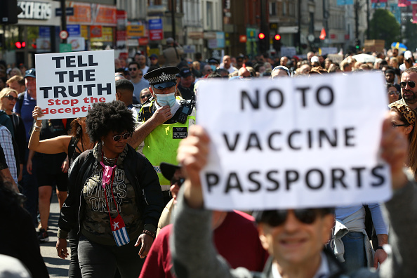 """Activity「""""Unite For Freedom"""" Protest Against Vaccine Passports Held In London」:写真・画像(4)[壁紙.com]"""