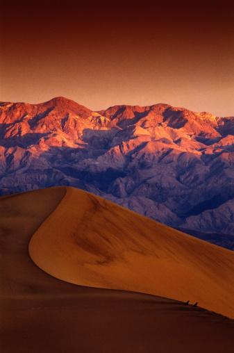 コットンウッド山脈「USA,California,Death Valley NP,ravens on sand dunes ridge」:スマホ壁紙(4)