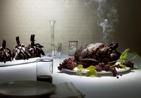 Chicken Meat「Burnt Chicken & artichokes on a nice dining table」:スマホ壁紙(7)