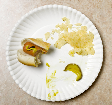 Sausage「eaten hot dog on paper plate」:スマホ壁紙(18)