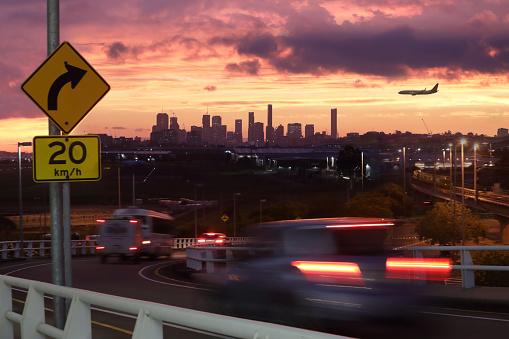 Queensland「City at sunset」:スマホ壁紙(1)