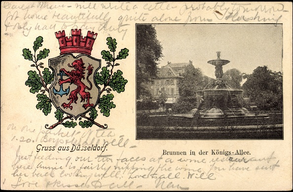 1900「Ak Düsseldorf, Brunnen in der Königsallee, Wappen, 1900」:写真・画像(4)[壁紙.com]