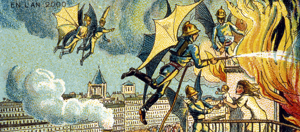 1890-1899「Flying Fireman From the series Visions of the Year 2000, 1899」:写真・画像(17)[壁紙.com]