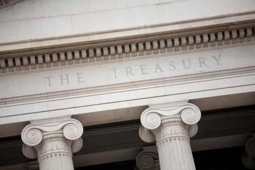 Recession「The US Treasury building in Washington DC」:スマホ壁紙(18)