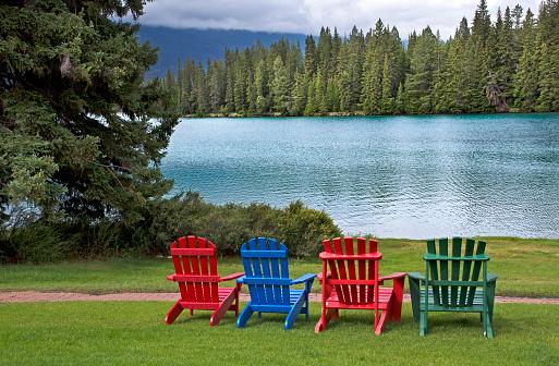 Adirondack Chair「Jasper Park Fairmont Lodge grounds」:スマホ壁紙(3)