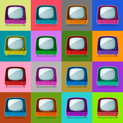 Arts Culture and Entertainment「Multicolored television sets」:スマホ壁紙(6)