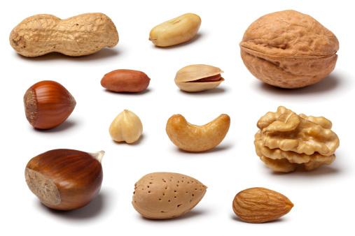Chestnut「Variety of Nuts on White」:スマホ壁紙(6)