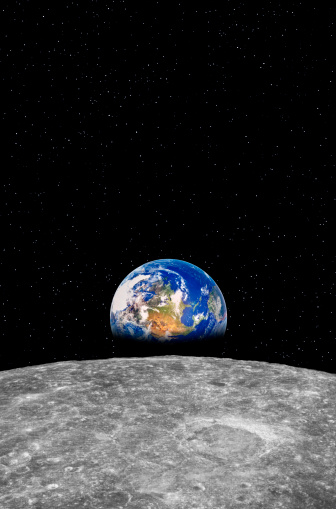Moon「Earth rising over Moon」:スマホ壁紙(13)