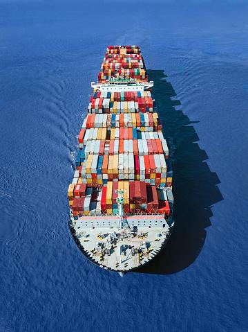Vertical「Container ship」:スマホ壁紙(11)
