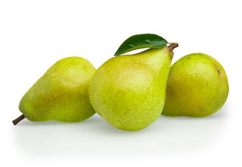 Pear「Pears green with Leaf」:スマホ壁紙(1)