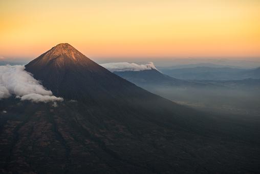 アグア火山「アグア火山サンセット」:スマホ壁紙(0)