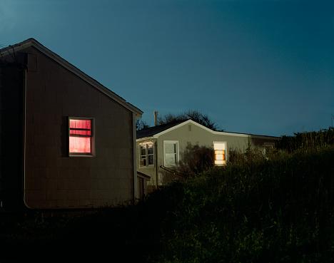 Mid-Atlantic - USA「Houses in Montauk at night」:スマホ壁紙(7)