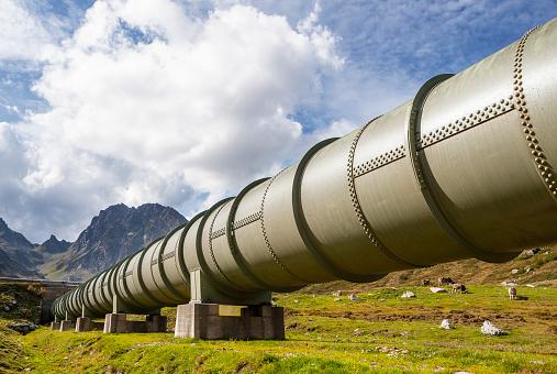 Pipeline「Austria, Vorarlberg, Bielerhoehe, Silvretta, water pipeline」:スマホ壁紙(2)