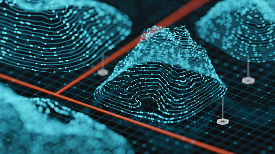 Big Data「Abstract Hologram Landscape background」:スマホ壁紙(18)