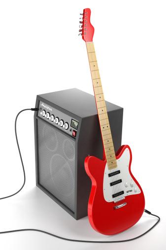 Rock Music「Amplifier and Electric Guitar」:スマホ壁紙(4)