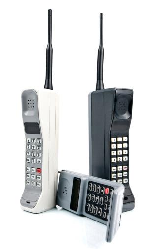 Mobile Phone「Three Retro Cell Phones」:スマホ壁紙(5)