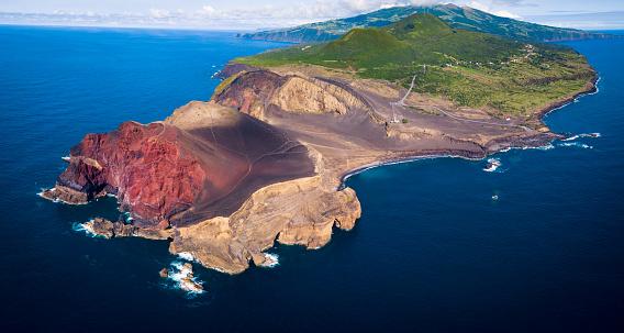 Volcano Islands「Capelinhos Volcano in Azores Islands, Faial」:スマホ壁紙(1)