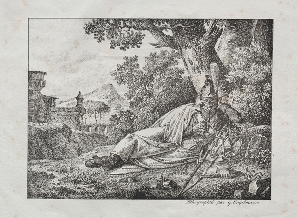 Condiment「Receuil Dessais Lithographiques: Dragon Fumant Couche Au Pied Dun Arbre」:写真・画像(10)[壁紙.com]