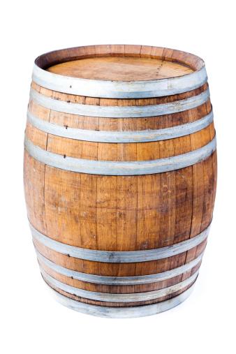 Aging Process「Single Wine Oak Cask Barrel Isolated on White Background」:スマホ壁紙(19)
