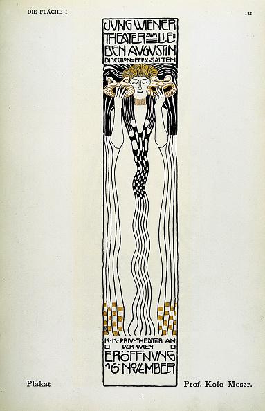 Advertisement「Poster for a Cabaret by Kolo Moser」:写真・画像(5)[壁紙.com]