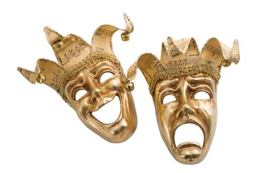 Male Likeness「Gold comedy and tragedy masks」:スマホ壁紙(1)