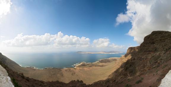 La Graciosa - Canary Islands「La Graciosa panorama」:スマホ壁紙(15)