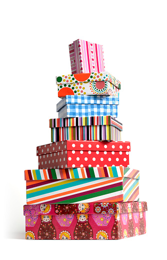 Female Likeness「CHRISTMAS PILE STACK OF PRESENT BOXES」:スマホ壁紙(9)