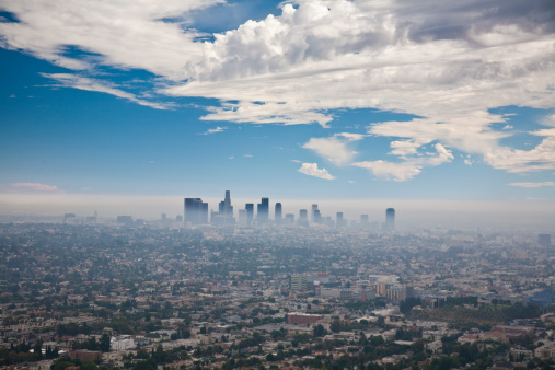 City Of Los Angeles「LOS ANGELES SKYLINE WITH SMOG」:スマホ壁紙(1)
