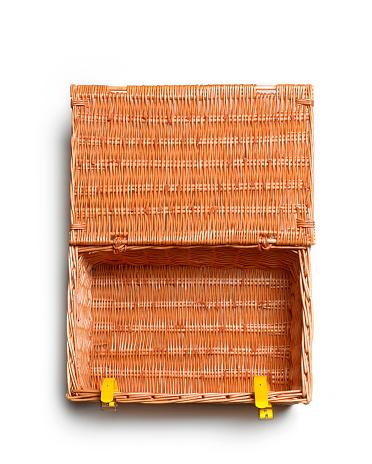 Basket「EMPTY PICNIC HAMPER WITH COPY SPACE」:スマホ壁紙(4)