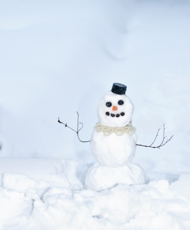 Female Likeness「Snowman with little black hat, and little sticks for its arms」:スマホ壁紙(16)