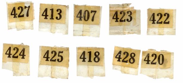 Printout「Old Numbers」:スマホ壁紙(5)
