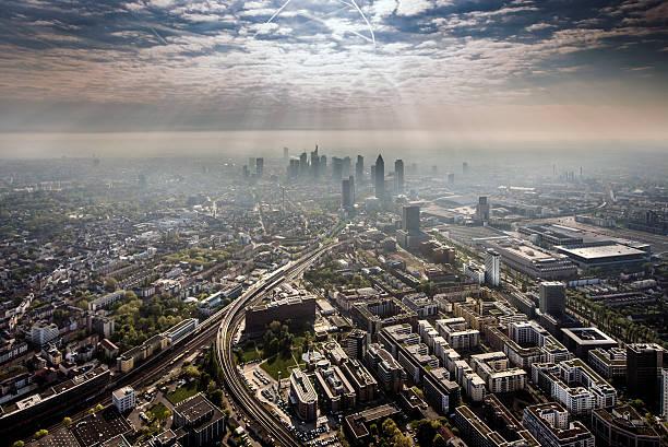 Aerial Shots of Frankfurt, Germany:スマホ壁紙(壁紙.com)