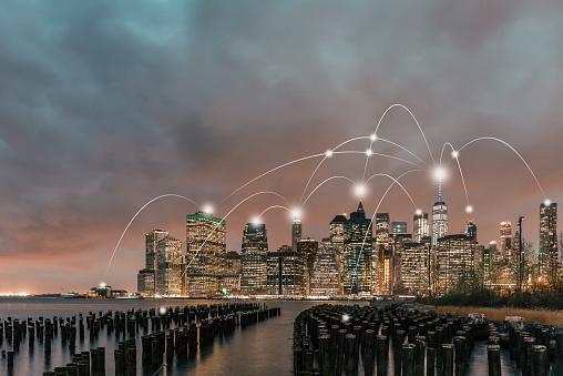 Internet of Things「Manhattan City Network Technology」:スマホ壁紙(12)