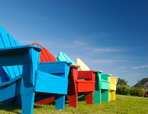 Adirondack Chair「Colorful chairs」:スマホ壁紙(12)