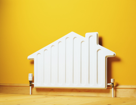 Heat - Temperature「House shaped radiator on wall」:スマホ壁紙(1)
